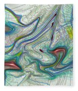 Abstract Pattern Art Fleece Blanket