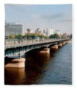 Cairo City Streets Fleece Blanket