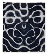 Chladni Oscillations On Metal Plate Fleece Blanket