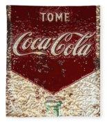 Coca Cola Classic Vintage Rusty Sign Fleece Blanket