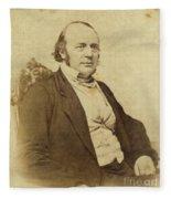 Louis Agassiz, Swiss-american Polymath Fleece Blanket