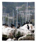 Monterey Harbour Fleece Blanket