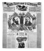 Presidential Campaign, 1880 Fleece Blanket