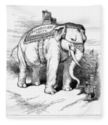 Presidential Campaign, 1884 Fleece Blanket