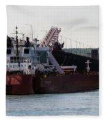 Presque Isle Ship Fleece Blanket