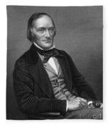 Richard Owen, English Paleontologist Fleece Blanket