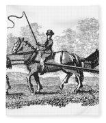 Virginia: Tobacco Culture Fleece Blanket