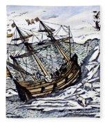 Willem Barents (c1550-1597) Fleece Blanket