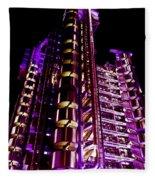 Lloyd's Building London  Fleece Blanket