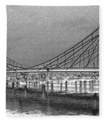 Albert Bridge London Fleece Blanket