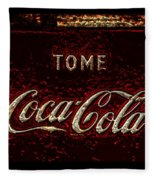 Coca Cola Classic Vintage Rusty Sign Fleece Blanket