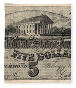 Confederate Banknote Fleece Blanket