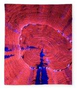 Fluorescent Coral In Uv Light Fleece Blanket
