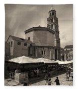 Split Old Town Fleece Blanket