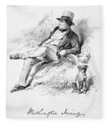 Washington Irving Fleece Blanket