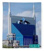9th Avenue Att Building Nashville Fleece Blanket