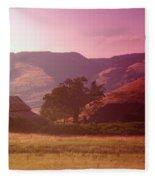A Barn Near Rowena Oregon    Fleece Blanket