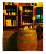 A Barrel And Wine Fleece Blanket