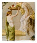 A Basket Of Roses - Grecian Girls Fleece Blanket