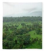 A Beautiful Green Countryside Fleece Blanket