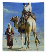 A Bedoueen Family In Wady Mousa Syrian Desert Fleece Blanket