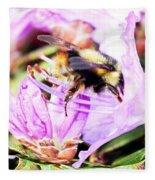 A Bees World Fleece Blanket