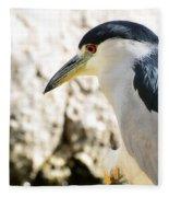 A Black-crowned Night Heron  Fleece Blanket