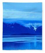 A Blue Slice Of Alaska Coast Fleece Blanket