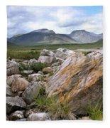 A Boulder Near Loch Garve Fleece Blanket