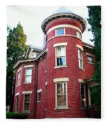 A Brick House With A Turret Fleece Blanket