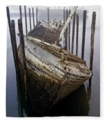 A Broken Boat Fleece Blanket