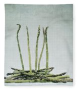 A Bunch Of Asparagus Fleece Blanket