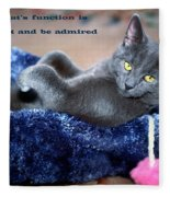 A Cats Function Fleece Blanket