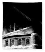 A Church On A Dark Night Fleece Blanket
