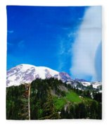 A Cloud Near Mt Rainer  Fleece Blanket
