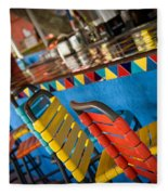 A Colorful Bar Fleece Blanket