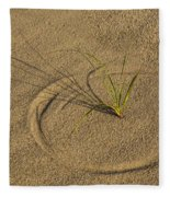 A Compass In The Sand Fleece Blanket