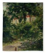 A Corner Of The Garden In Rueil Fleece Blanket