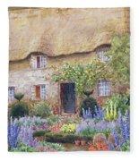 A Cottage Garden In Full Bloom Fleece Blanket