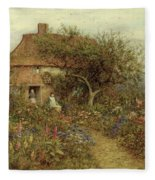 A Cottage Near Brook Witley Surrey Fleece Blanket