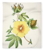 A Cotton Plant Fleece Blanket