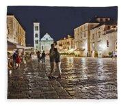 A Croatian Night Fleece Blanket