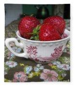 A Cup Of Strawberries Fleece Blanket
