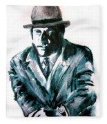 A Dapper Brit-portrait Of Ron Moody Fleece Blanket