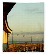 Playland Rye Beach Pier Fleece Blanket