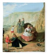 A Day At The Seaside Fleece Blanket