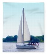 A Day Of Sailing Fleece Blanket