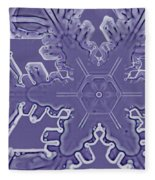 A Dendritic Snowflake Fleece Blanket