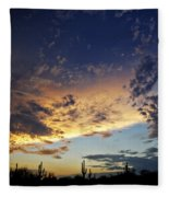 A Desert Horizon  Fleece Blanket