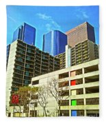 A Different Perspective On Downtown Los Angeles I Fleece Blanket